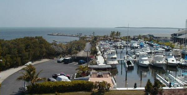 Marina view from condo balcony